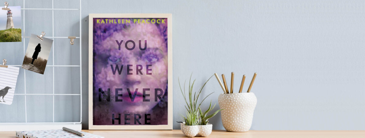 You Were Never Here book cover on desk with notecards and pencils